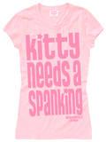 Juniors: Sin City Kitty - Kitty Needs A Spanking T-shirts