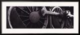Steam Locomotive Wheels Framed Photographic Print by  Panoramic Images