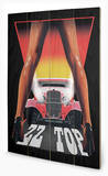 ZZ Top - Legs Targa di legno