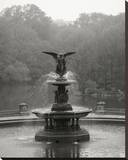 Bethesda Fountain Stretched Canvas Print by Chris Bliss