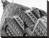 Chrysler Building Detail Stretched Canvas Print by Chris Bliss