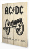 AC-DC - For Those About To Rock Wood Sign Panneau en bois