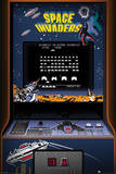 Space Invaders (Arcade Cabinet) Classic Video Game Poster Photo