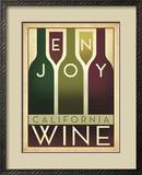 Enjoy California Wine Framed Giclee Print by  Anderson Design Group