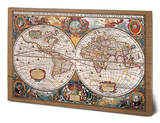 17th Century World Map Wood Sign Wood Sign