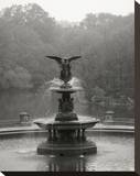 Bethesda Fountain Stretched Canvas Print by Christopher Bliss