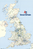 A - Z Great Britain Map Poster