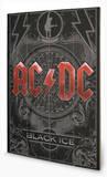 AC-DC - Black Ice Wood Sign Panneau en bois