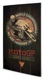 Moto - Grand Prix Legends Wood Sign Panneau en bois