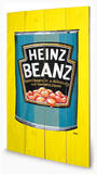 Heinz - Beanz Can Wood Sign Cartel de madera