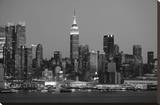 New York Skyline Stretched Canvas Print by Chris Bliss