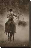 Cowboy Named Bronco Stretched Canvas Print by Barry Hart