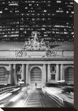 Grand Central Station at Night Stretched Canvas Print by Chris Bliss