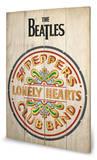 The Beatles - Sgt Peppers Wood Sign Panneau en bois
