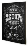 ZZ Top - Special Batch Wood Sign Træskilt