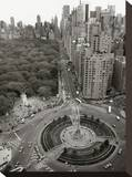 Columbus Circle Stretched Canvas Print by Christopher Bliss