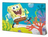 Spongebob - Sea Stroll Wood Sign Cartel de madera