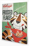 Vintage Kelloggs - Frosted Flakes Wood Sign Cartel de madera