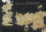 Game Of Thrones - Karte von Weste Kunstdrucke