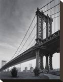 Manhattan Bridge Stretched Canvas Print by Chris Bliss