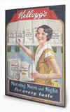 Vintage Kelloggs - Morning, Noon & Night Wood Sign Wood Sign
