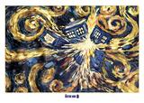 Doctor Who- Van Gogh's Exploding Tardis - Posterler