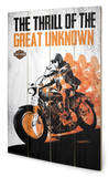 Harley Davidson - Great Unknown Wood Sign Panneau en bois