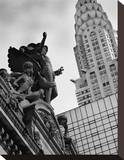 Mercury Statue and Chrysler Building Stretched Canvas Print by Christopher Bliss