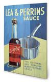 Lea & Perrins – The Original Worcester Sauce Wood Sign Cartel de madera