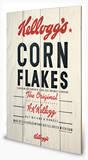 Vintage Kelloggs - Corn Flakes Cartel de madera