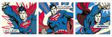 Superman (Pop Art Triptych) Affiche