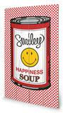 Happiness Soup Wood Sign Træskilt