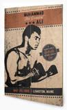 Muhammad Ali - Fighter Vintage Wood Sign Cartel de madera