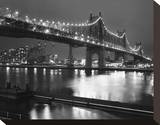 59th Street Bridge Stretched Canvas Print by Christopher Bliss
