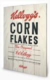 Vintage Kelloggs - Corn Flakes Træskilt