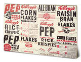 Vintage Kelloggs - Box Montage Wood Sign Cartel de madera