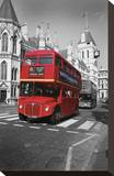 Red Bus London Stretched Canvas Print by Christopher Bliss
