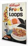 Vintage Kelloggs - Fruit Loops Wood Sign Træskilt