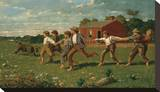 Snap the Whip, 1872 Stretched Canvas Print by Winslow Homer