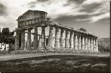 Greek Temple Stretched Canvas Print by Christopher Bliss