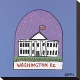 Washington D.C. Snow Globe Stretched Canvas Print by Brian Nash