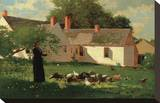 Farmyard Scene, c. 1874 Stretched Canvas Print by Winslow Homer