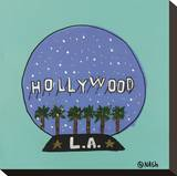 Hollywood Snow Globe Stretched Canvas Print by Brian Nash