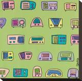 Radio Radio Stretched Canvas Print by Brian Nash