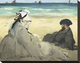 On the Beach, 1873 Stretched Canvas Print by Édouard Manet