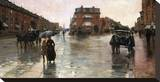 Rainy Day, Boston, 1885 Stretched Canvas Print by Childe Hassam