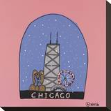 Chicago Snow Globe Stretched Canvas Print by Brian Nash