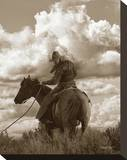 Colorado Cowboy Stretched Canvas Print by Barry Hart