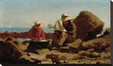The Boat Builders, 1873 Stretched Canvas Print by Winslow Homer