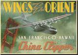 China Clipper Stretched Canvas Print by Carlos Casamayor